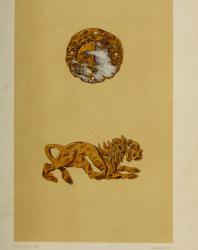 II. Золотые бляхи, найденные в Луговой Могиле. Русское искусство. Виолле-ле-Дюк Э.Э. 1879