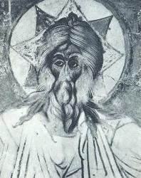 10. «Саваоф» — фреска Спасо-Преображенского собора (1564 г.). Ярославль