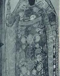16. Ярославль. Храм Ильи Пророка (1647—1650 гг.): «Св. Василий» — фреска (1680—1681 гг.)
