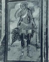 19. «Великомученник Никита» — фреска (1673 г.) в храме Николы Мокрого (1665—1672 гг.). Ярославль
