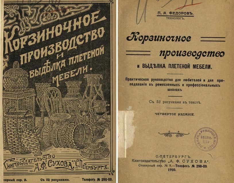 Корзиночное производство и выделка плетеной мебели. Федоров П.А. 1910